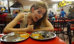 Audrey Bergner That Backpacker in Kuala Lumpur eating