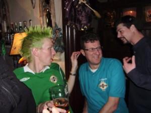 spiked green hair in pisa italy jonny blair