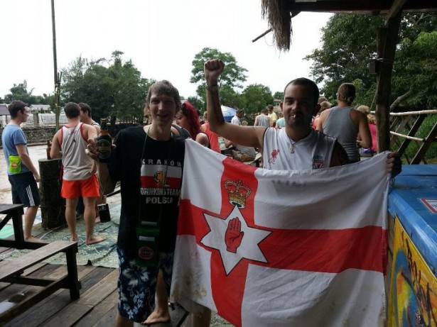 Partying in Vang Vieng (as a 32 year old!) with Chaz - my Belfast mate and fellow Northern Irish wanderer!