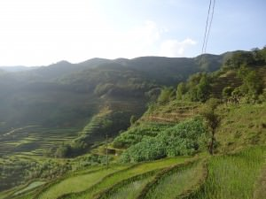 view of yuanyang rice terraces