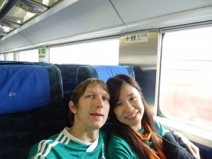 Jonny Blair and Panny Yu Hung Hom to Guangzhou train