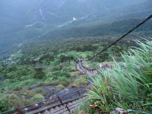 view of the hike at Adam's Peak Sri Pada Sri Lanka