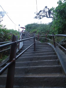 steps on the hike to adams peak