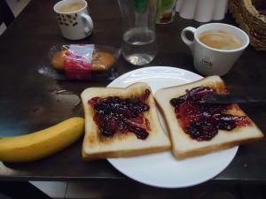 breakfast in Masada
