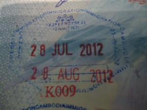 cambodian visa entrance stamp