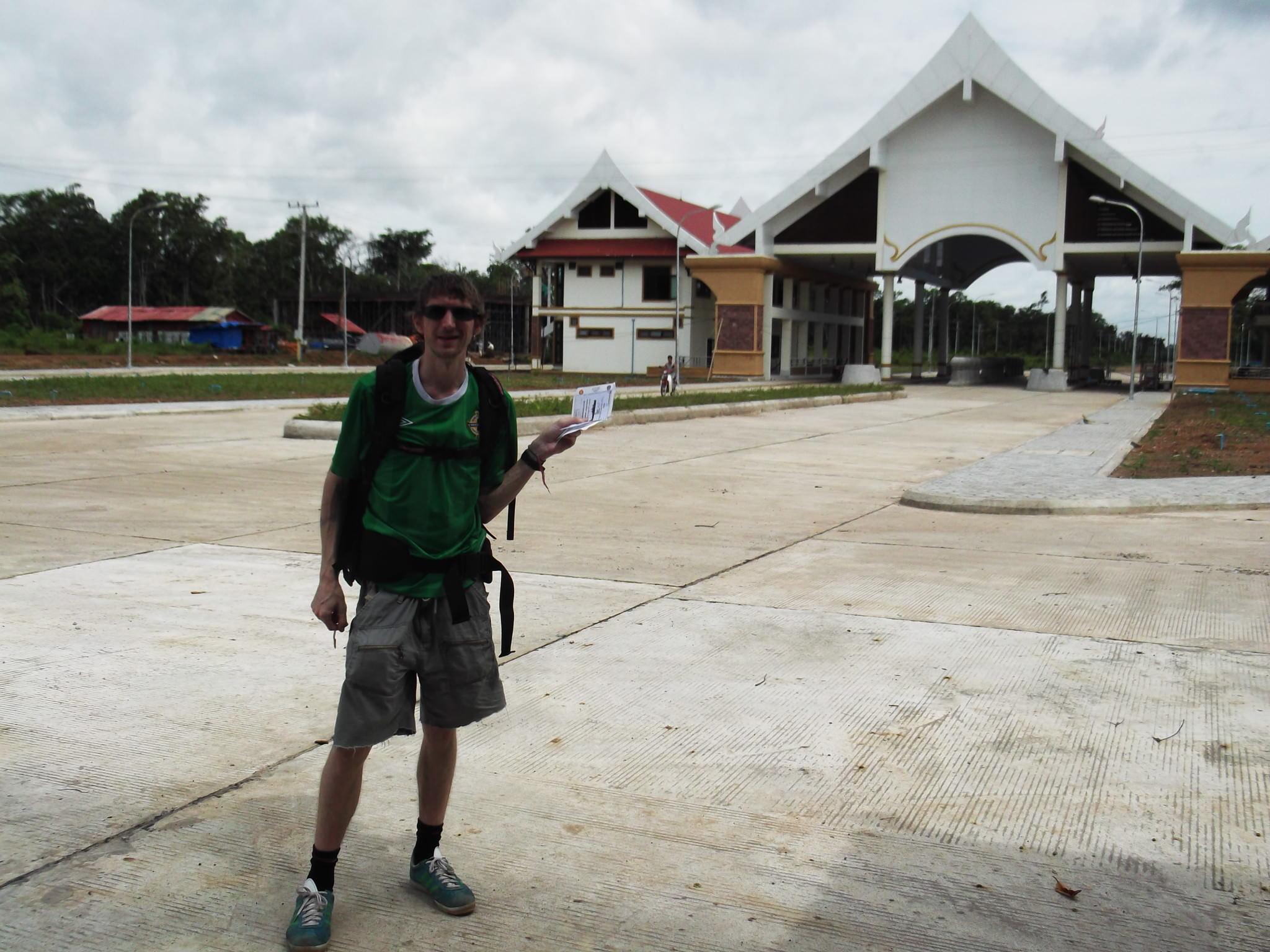 Jonny Blair crosses from Laos to Cambodia
