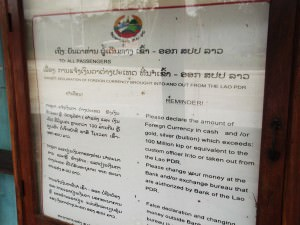 laos to cambodia border sign
