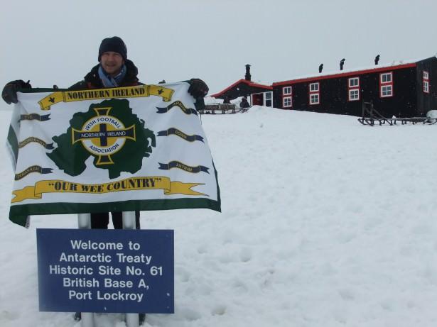 northern ireland flag antarctica port lockroy