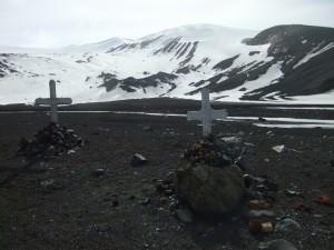 graveyard in whalers bay antarctica