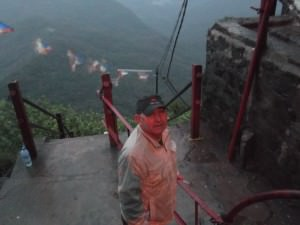 Joe Blair at the top of Adam's Peak Sri Lanka