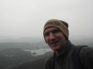 Jonny Blair at the top of Adam's Peak in Sri Lanka