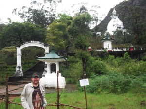 Joe Blair hiking to Adam's Peak in Sri Lanka