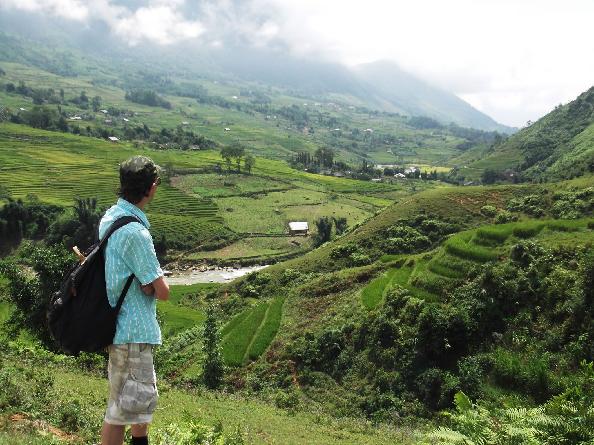 jonny blair hiking in sapa vietnam