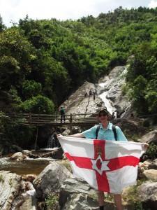jonny blair northern ireland flag in vietnam