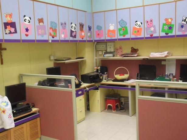 preparing lessons in Hong Kong
