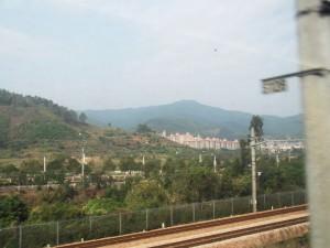 Hong Kong to China train landscape views