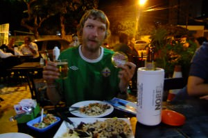 beer and food in Recife Brazil