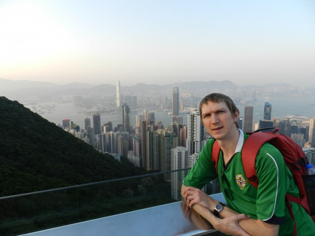 Jonny Blair at the Peak Hong Kong