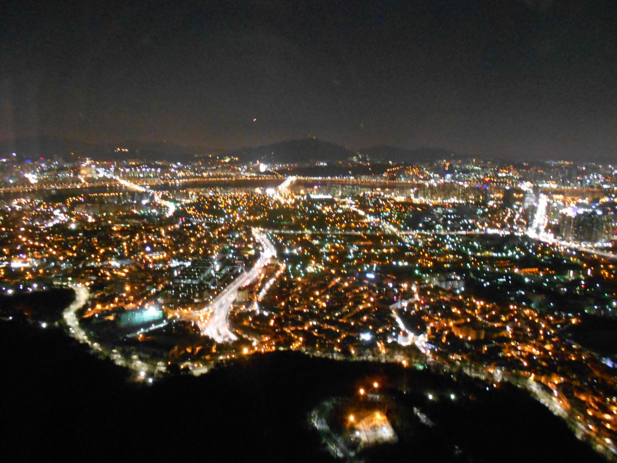 seoul tower south korea top view