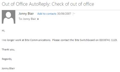 I no longer work at Bite Communications