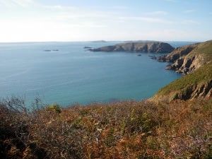 view out to sea at sark