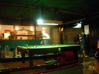 pool bar by the namsong in vang vieng