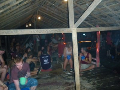 bucket bar in vang vieng laos