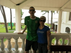 Jonny Blair and Panny Yu in Sri Lanka