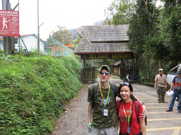 starting the climb up mount kinabalu at timpohon gate