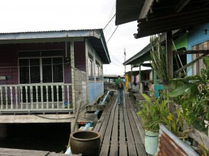 walking in kampong ayer venice of the east brunei