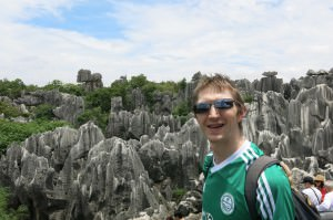 stone forest centre shilin yunnan china