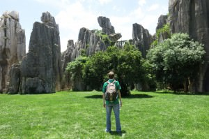 backpacking in yunnan stone forest shilin china