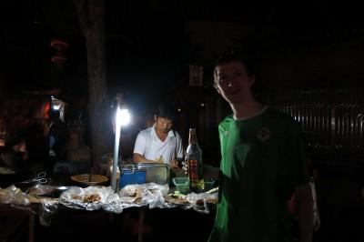 night time in jianshui night market