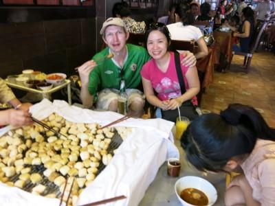 spicy barbecue tofu jianshui yunnan china