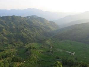 view of yuanyang rice terraces