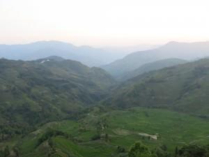 sunset at yuanyang rice terraces china