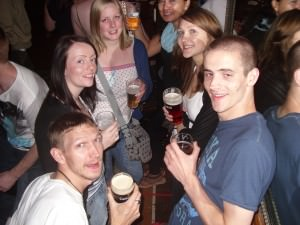 partying in O Malleys Sydney Australia