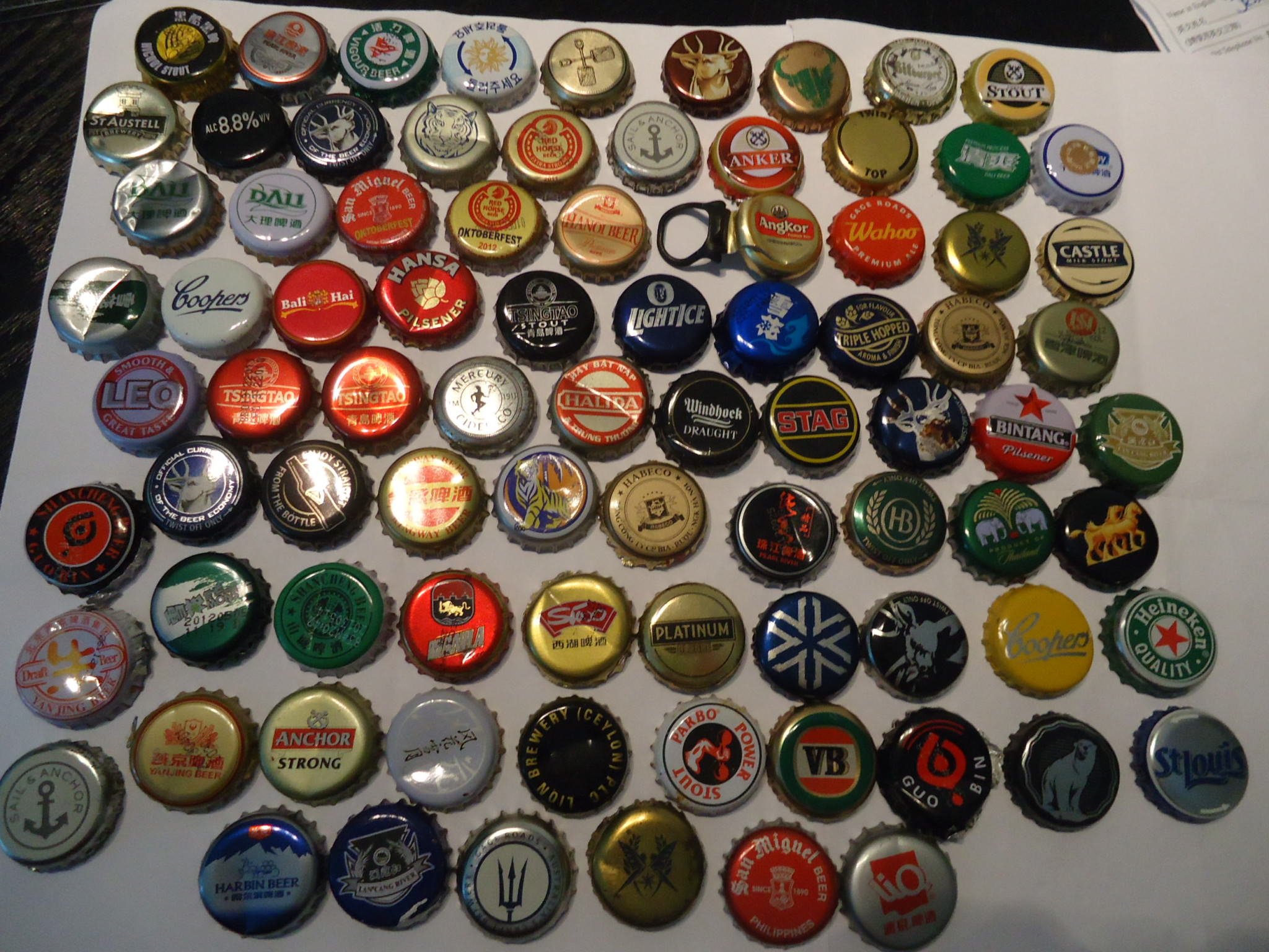collecting beer bottle tops