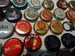 beer bottle tops collection