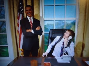 Asking Barack Obama if he wants to come backpacking with me!