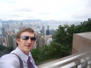 Admiring the view from the Peak in Hong Kong!
