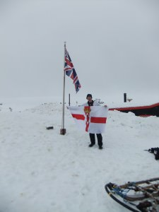 norn iron flag in antarctica