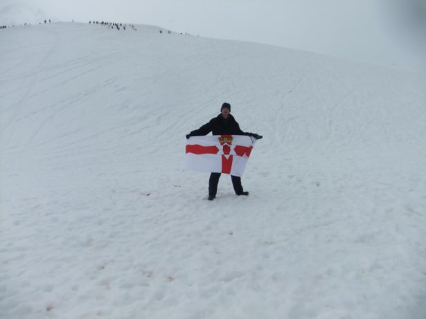 northern ireland flag in antarctica