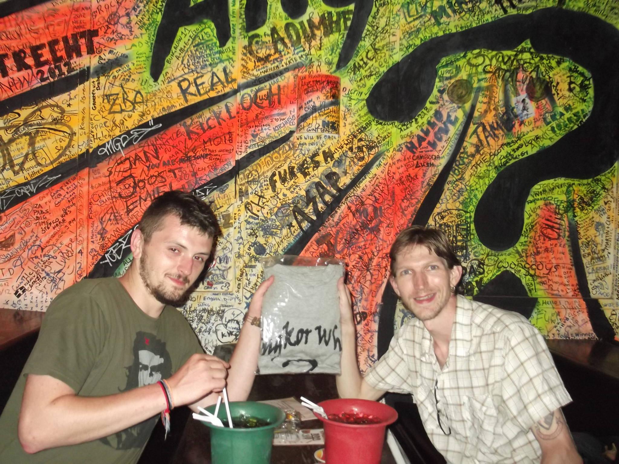 t shirt whiskey buckets angkor what? bar cambodia