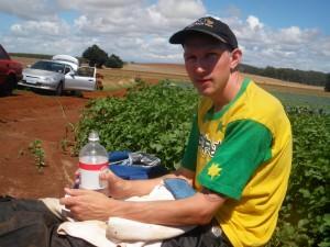 australia t shirt jonny blair in tasmania
