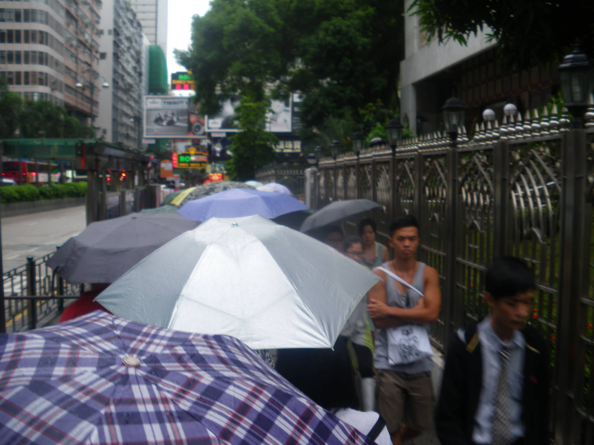 umbrellas in hong kong