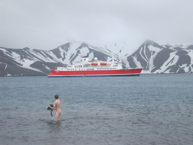 naked in antarctica