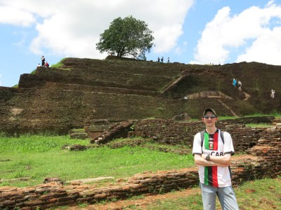 Checking out the ancient lost city at the top of Sigiriya Lion Rock in Sri Lanka.