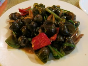 plate of snails in china