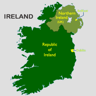 What? There's a Border? Yes of course there is!! Northern Ireland and Republic of Ireland make up Ireland!